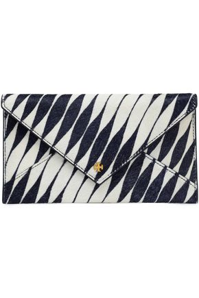 TORY BURCH Printed calf hair wallet