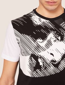 ARMANI EXCHANGE REGULAR-FIT COMIC BOOK COLORBLOCK CREW Graphic T-shirt [*** pickupInStoreShippingNotGuaranteed_info ***] a
