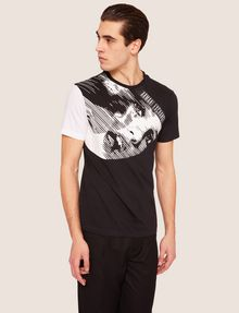 ARMANI EXCHANGE REGULAR-FIT COMIC BOOK COLORBLOCK CREW Graphic T-shirt Man f