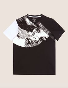 ARMANI EXCHANGE REGULAR-FIT COMIC BOOK COLORBLOCK CREW Graphic T-shirt [*** pickupInStoreShippingNotGuaranteed_info ***] r