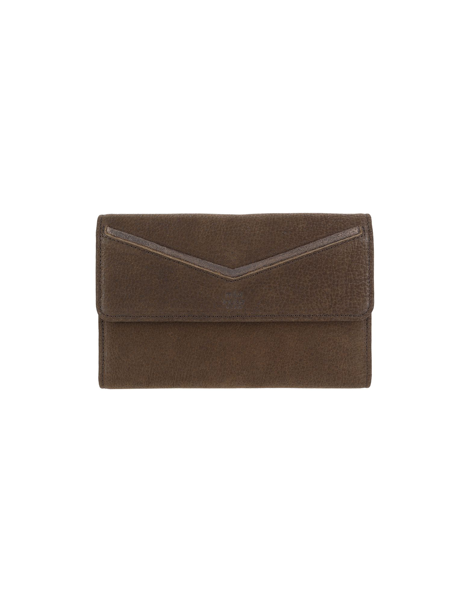 《送料無料》MILA LOUISE レディース 財布 ココア 牛革 100%