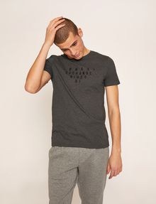 ARMANI EXCHANGE SLIM-FIT SINCE '91 LOGO CREW Logo T-shirt Man f