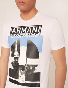 ARMANI EXCHANGE SLIM-FIT EMPIRE STATE LOGO CREW Graphic T-shirt [*** pickupInStoreShippingNotGuaranteed_info ***] b