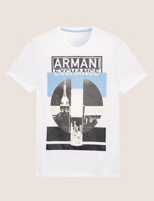 ARMANI EXCHANGE SLIM-FIT EMPIRE STATE LOGO CREW Graphic T-shirt [*** pickupInStoreShippingNotGuaranteed_info ***] r