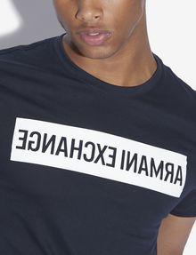 ARMANI EXCHANGE SLIM-FIT REVERSED LOGO CREW Logo T-shirt [*** pickupInStoreShippingNotGuaranteed_info ***] b