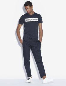 ARMANI EXCHANGE SLIM-FIT REVERSED LOGO CREW Logo T-shirt [*** pickupInStoreShippingNotGuaranteed_info ***] d