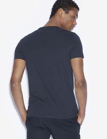 ARMANI EXCHANGE SLIM-FIT REVERSED LOGO CREW Logo T-shirt [*** pickupInStoreShippingNotGuaranteed_info ***] e