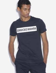ARMANI EXCHANGE SLIM-FIT REVERSED LOGO CREW Logo T-shirt [*** pickupInStoreShippingNotGuaranteed_info ***] f
