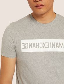 ARMANI EXCHANGE SLIM-FIT REVERSED LOGO CREW Logo T-shirt [*** pickupInStoreShippingNotGuaranteed_info ***] b