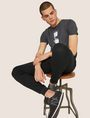ARMANI EXCHANGE ZIP CUFF SWEATPANTS Fleece Trouser Man a
