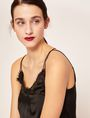 ARMANI EXCHANGE RACERBACK LACE-TRIMMED SILK CAMI Solid Top [*** pickupInStoreShipping_info ***] a
