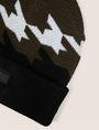 ARMANI EXCHANGE HOUNDSTOOTH KNIT BEANIE Hat [*** pickupInStoreShippingNotGuaranteed_info ***] d