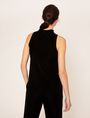 ARMANI EXCHANGE CUTOUT MOCKNECK VELVET TANK Solid Top [*** pickupInStoreShipping_info ***] e