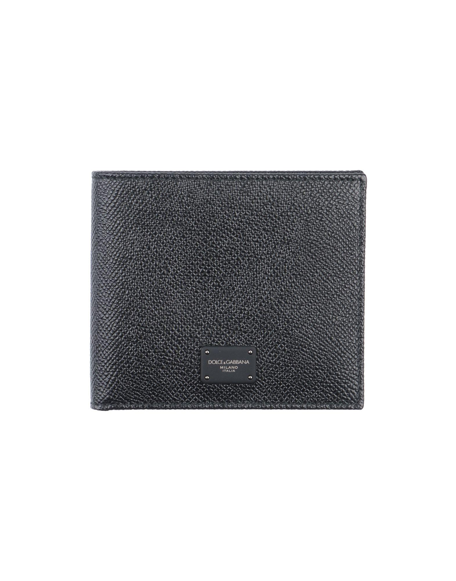 《2万円以上オーダーで送料無料》DOLCE & GABBANA メンズ 財布 スチールグレー 革