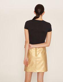 ARMANI EXCHANGE METALLIC STUD LOGO V-NECK Logo T-shirt Woman e