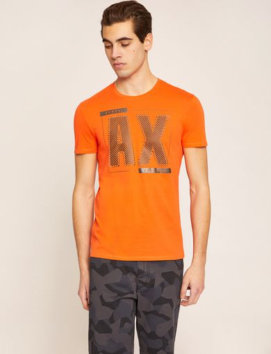 METALLIC DIAGONAL SLIM LOGO TEE