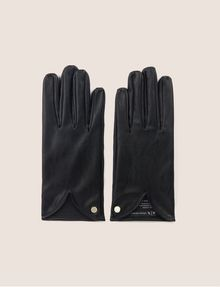 ARMANI EXCHANGE CUTOUT DETAIL FAUX-LEATHER GLOVES Gloves [*** pickupInStoreShipping_info ***] f