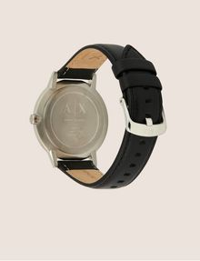 ARMANI EXCHANGE Uhr mit glattem Lederband Fashion Watch [*** pickupInStoreShippingNotGuaranteed_info ***] e