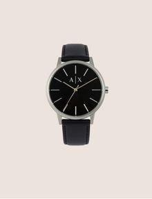 ARMANI EXCHANGE Uhr mit glattem Lederband Fashion Watch [*** pickupInStoreShippingNotGuaranteed_info ***] f