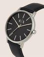 ARMANI EXCHANGE Uhr mit glattem Lederband Fashion Watch [*** pickupInStoreShippingNotGuaranteed_info ***] r