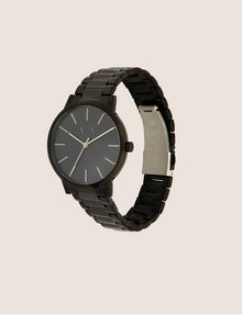 ARMANI EXCHANGE MATTE BLACK MINIMALIST BRACELET WATCH Fashion Watch Man d