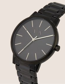 ARMANI EXCHANGE MATTE BLACK MINIMALIST BRACELET WATCH Fashion Watch Man r
