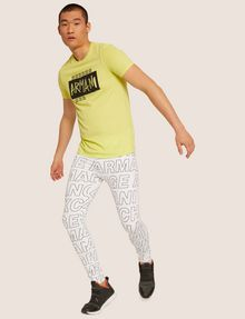 ARMANI EXCHANGE ALLOVER LOGO PRINT LEGGING Jogger [*** pickupInStoreShippingNotGuaranteed_info ***] a