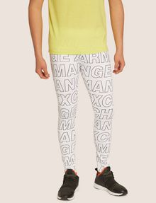 ARMANI EXCHANGE ALLOVER LOGO PRINT LEGGING Jogger [*** pickupInStoreShippingNotGuaranteed_info ***] f