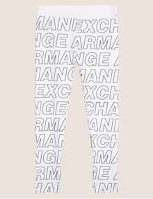 ARMANI EXCHANGE ALLOVER LOGO PRINT LEGGING Jogger [*** pickupInStoreShippingNotGuaranteed_info ***] r