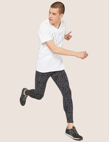 ARMANI EXCHANGE ALLOVER LOGO PRINT LEGGING Jogger Man a
