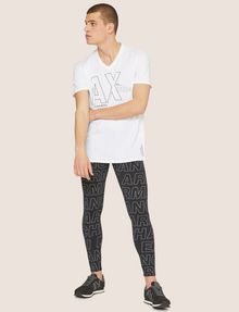 ARMANI EXCHANGE ALLOVER LOGO PRINT LEGGING Jogger Man d
