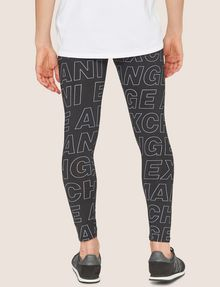 ARMANI EXCHANGE ALLOVER LOGO PRINT LEGGING Jogger Man e