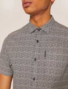 ARMANI EXCHANGE SLIM-FIT AX MICRO-PRINT SHIRT Short sleeve shirt Man b