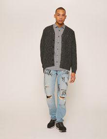 ARMANI EXCHANGE SLIM-FIT AX MICRO-PRINT SHIRT Short sleeve shirt Man d