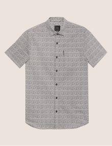 ARMANI EXCHANGE SLIM-FIT AX MICRO-PRINT SHIRT Short sleeve shirt Man r