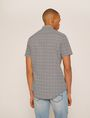 ARMANI EXCHANGE SLIM-FIT AX MICRO-PRINT SHIRT Short sleeve shirt Man e