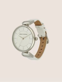 ARMANI EXCHANGE WHITE LINKED BAND WATCH Fashion Watch [*** pickupInStoreShipping_info ***] d