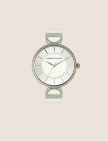 ARMANI EXCHANGE WHITE LINKED BAND WATCH Fashion Watch [*** pickupInStoreShipping_info ***] f