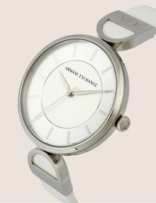 ARMANI EXCHANGE WHITE LINKED BAND WATCH Fashion Watch [*** pickupInStoreShipping_info ***] r