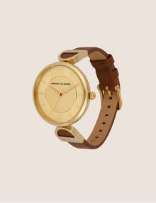 ARMANI EXCHANGE GOLD-TONED LINKED BAND WATCH Fashion Watch [*** pickupInStoreShipping_info ***] d