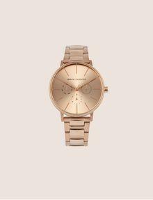 ARMANI EXCHANGE Cronografo in acciaio a tre maglie con quadrante piatto Orologio Donna f