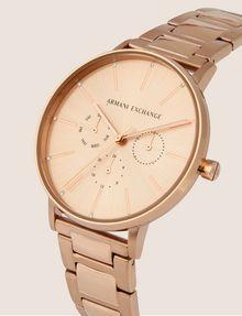 ARMANI EXCHANGE Cronografo in acciaio a tre maglie con quadrante piatto Orologio Donna r