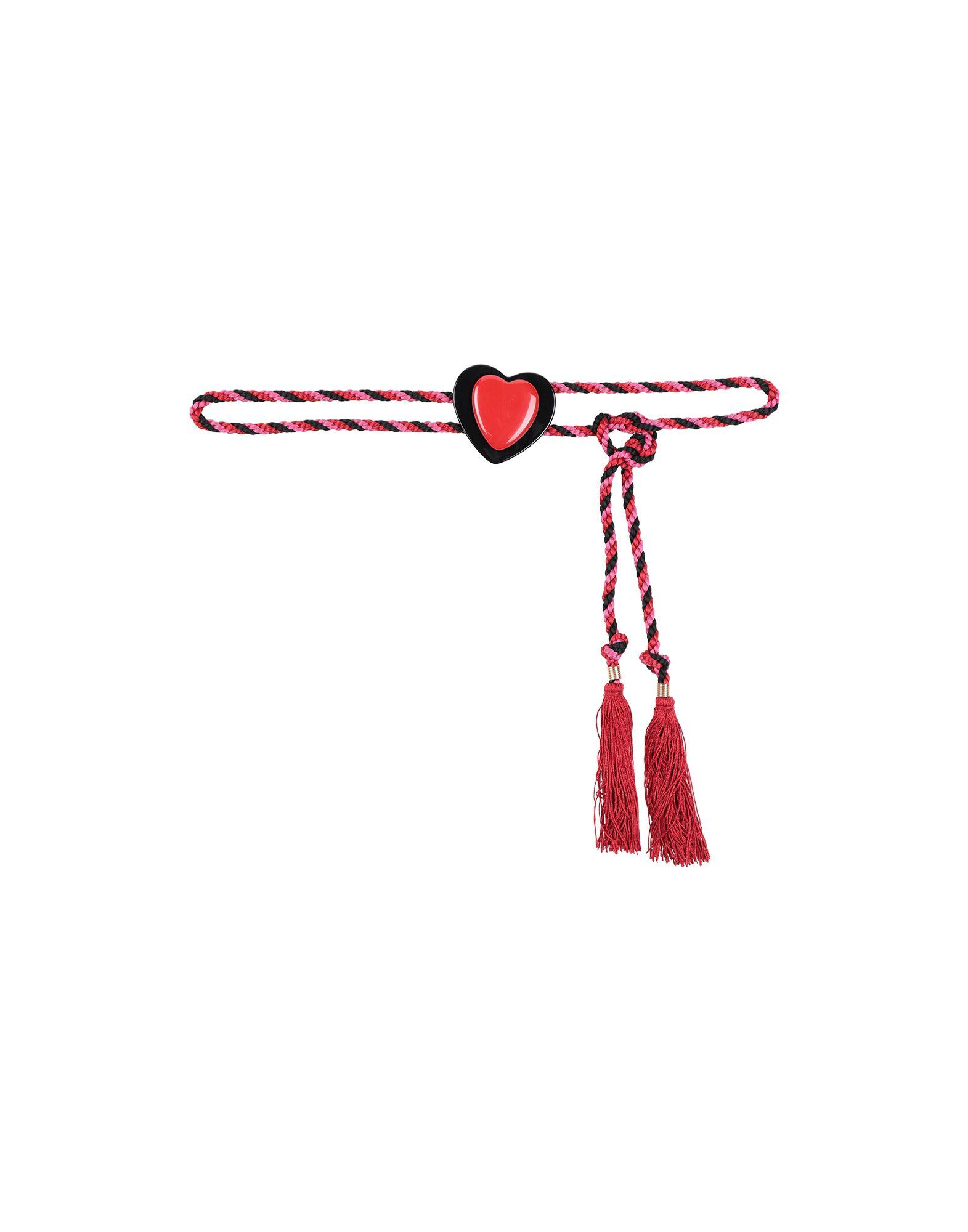 《送料無料》PHILOSOPHY di LORENZO SERAFINI レディース ベルト レッド one size 紡績繊維