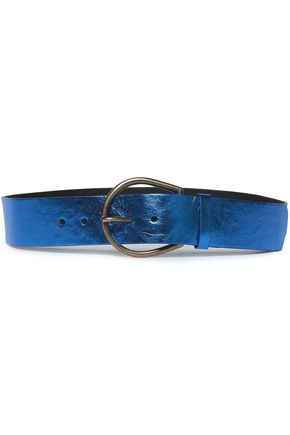 MAISON MARGIELA Metallic cracked-leather belt