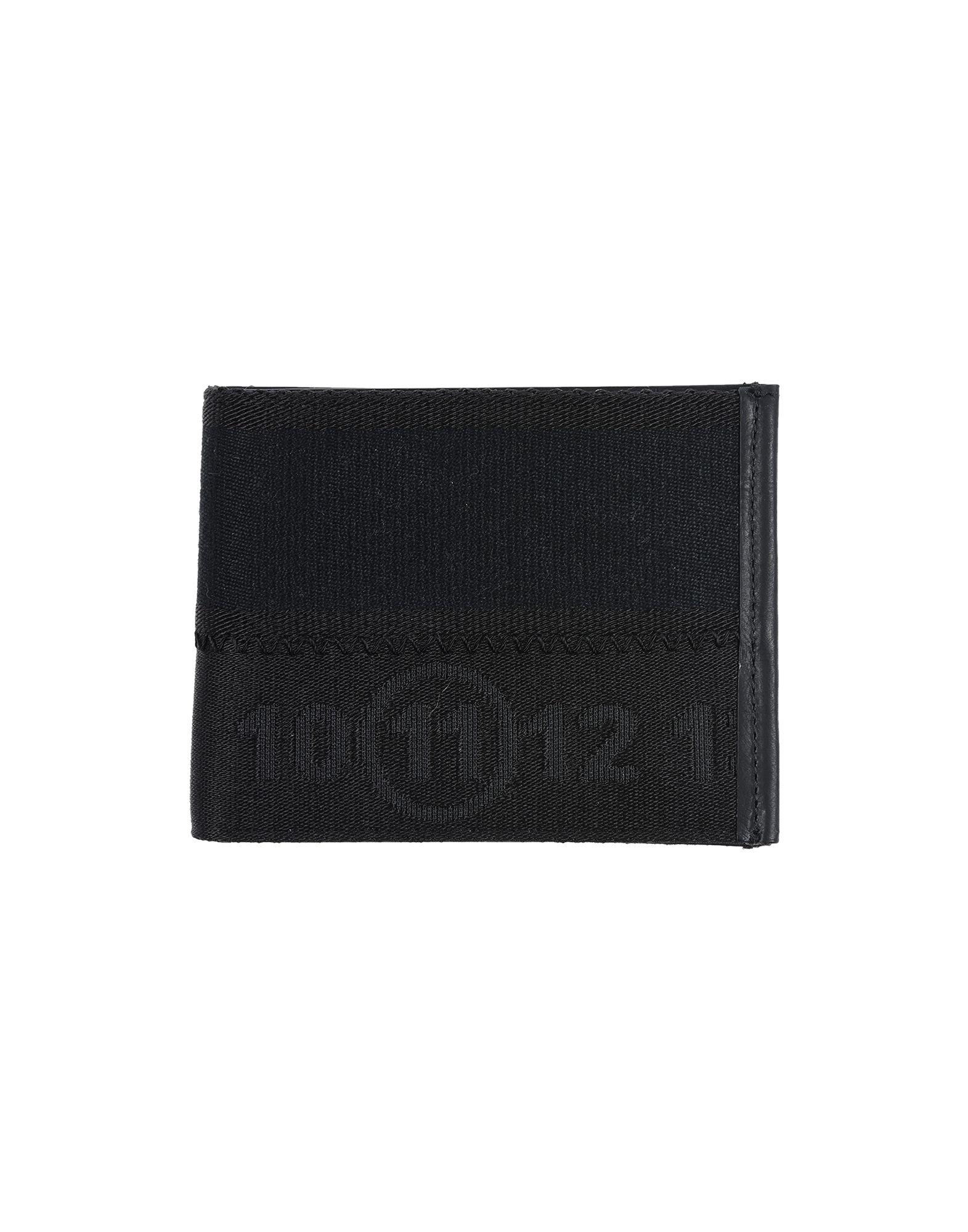 《送料無料》MAISON MARGIELA メンズ 財布 ブラック ポリエステル 34% / コットン 33% / ナイロン 33% / 革