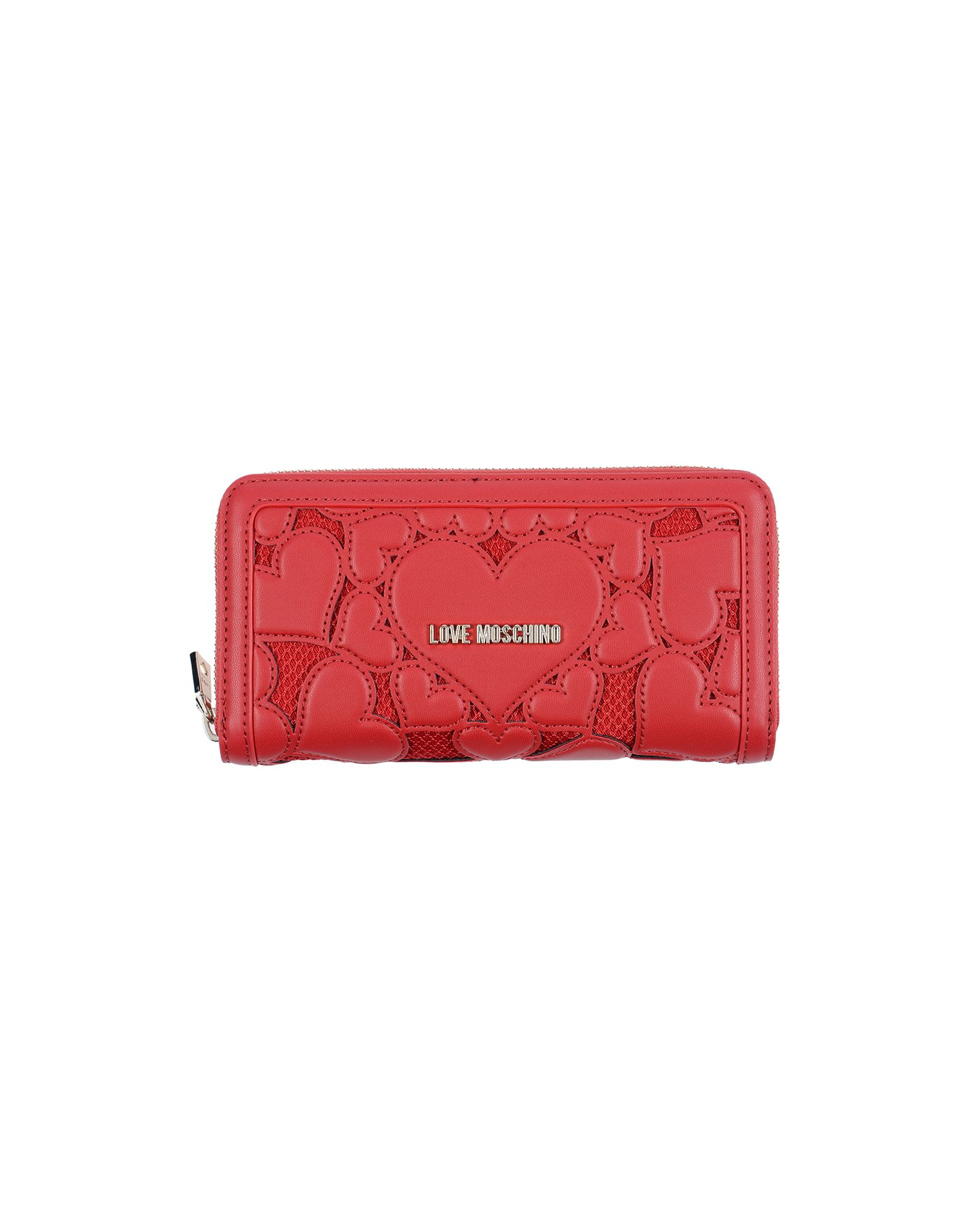 《送料無料》LOVE MOSCHINO レディース 財布 レッド ポリウレタン / 紡績繊維