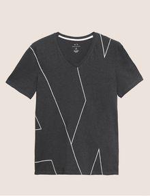 ARMANI EXCHANGE REGULAR-FIT LARGE PRINT LOGO V-NECK Graphic T-shirt Man r