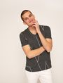 ARMANI EXCHANGE REGULAR-FIT LARGE PRINT LOGO V-NECK Graphic T-shirt Man f