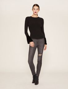 ARMANI EXCHANGE FLARED CUFF RIB SWEATER Crew Neck [*** pickupInStoreShipping_info ***] d