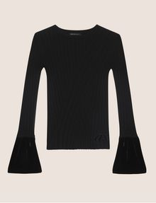 ARMANI EXCHANGE FLARED CUFF RIB SWEATER Crew Neck [*** pickupInStoreShipping_info ***] r